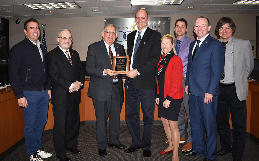Russell Baldwin honored by Board of Retirement